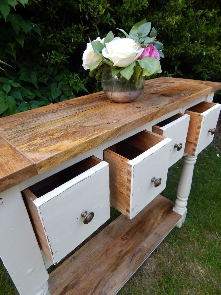 modern image table pottery console barn inspired rustic remodelaholic featured